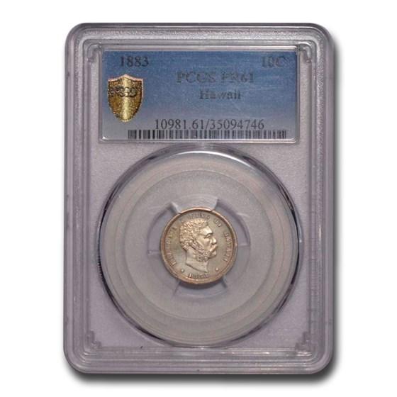 1883 Hawaii Ten Cents PR-61 PCGS