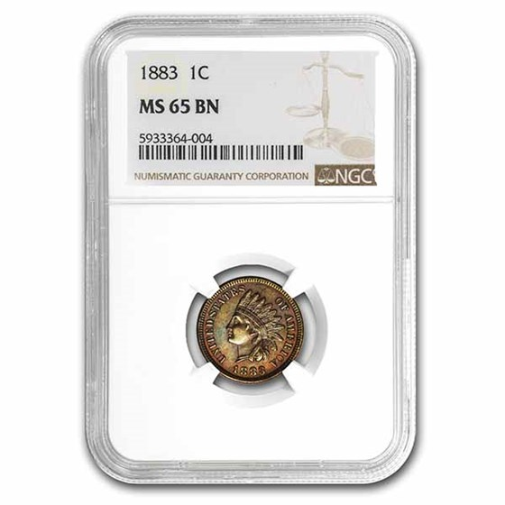 1883 Indian Head Cent MS-65 NGC (Brown)