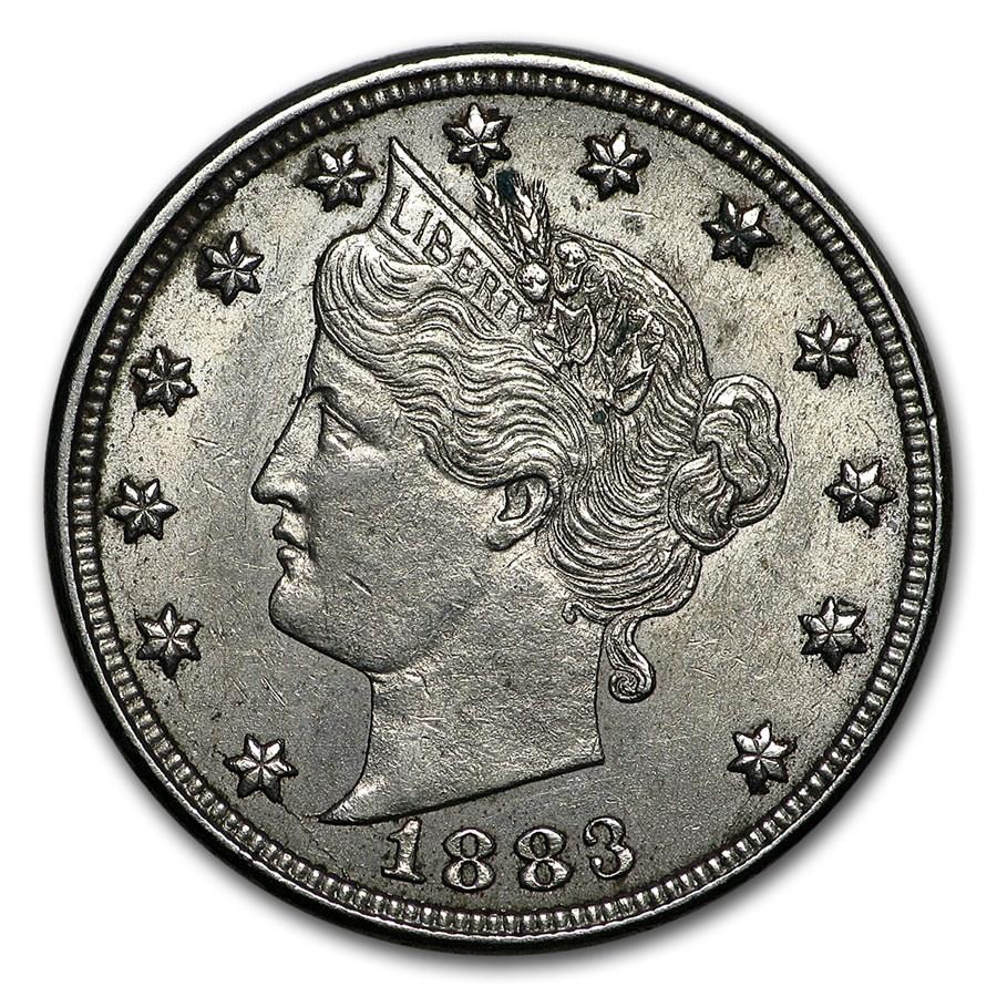 1883 Liberty Head V Nickel No Cents Choice AU