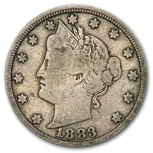 1883 Liberty Head V Nickel No Cents Fine