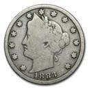 1883 Liberty Head V Nickel No Cents Good
