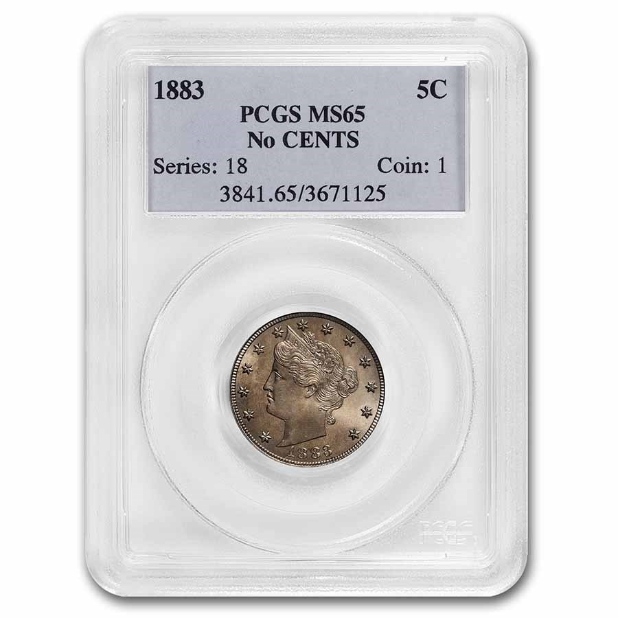 1883 Liberty Head V Nickel No Cents MS-65 PCGS