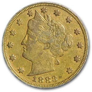 1883 Liberty Head V Nickel No Cents (Racketeer Plating)