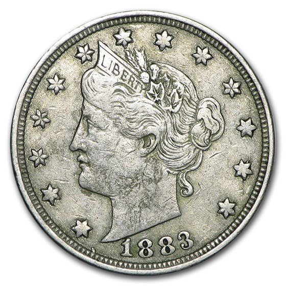 1883 Liberty Head V Nickel No Cents VF