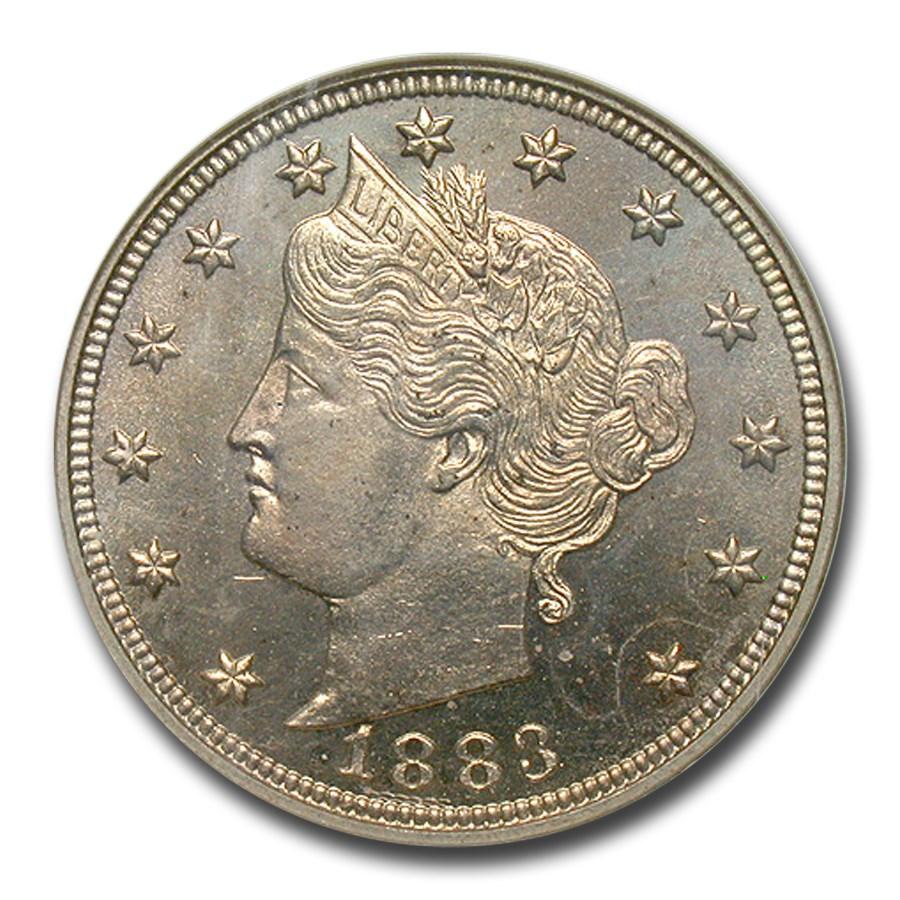 1883 Liberty Head V Nickel PF-64 NGC (w/Cents)