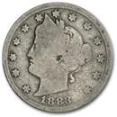 1883 Liberty Head V Nickel w/Cents AG