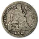 1883 Liberty Seated Dime VG