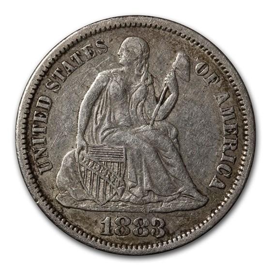 1883 Liberty Seated Dime XF