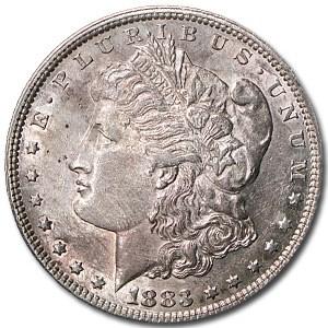 1883 Morgan Dollar AU