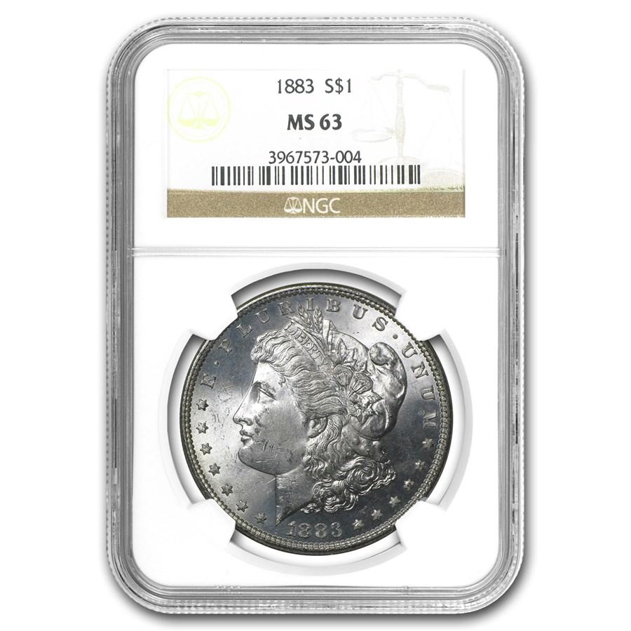 1883 Morgan Dollar MS-63 NGC
