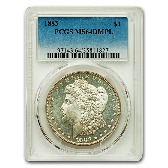1883 Morgan Dollar MS-64 DMPL PCGS