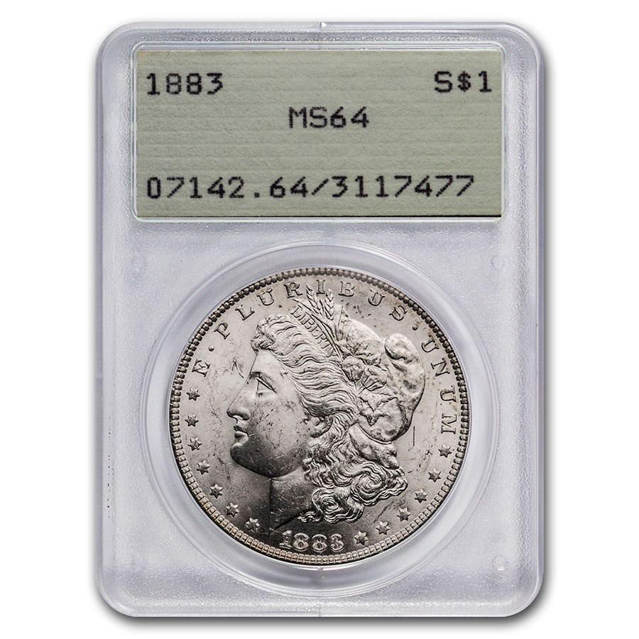 1883 Morgan Dollar MS-64 PCGS (Old Rattler Holder)