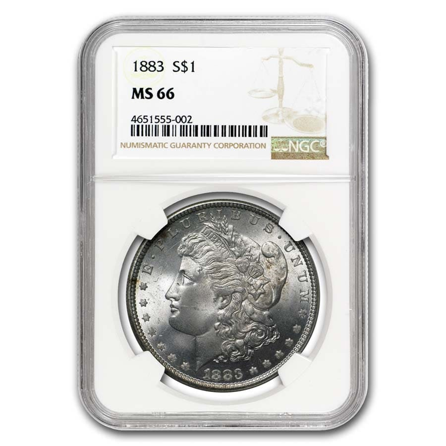 1883 Morgan Dollar MS-66 NGC