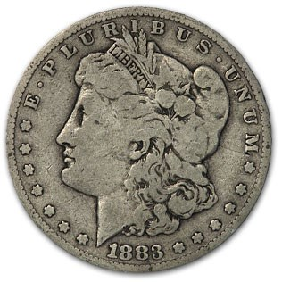 1883 Morgan Dollar VG/VF
