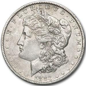 1883-O Morgan Dollar AU Details (VAM-22A, E Rev, Cleaned)