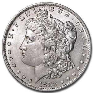 1883-O Morgan Dollar AU