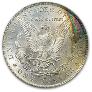 1883-O Morgan Dollar MS-62 PCGS (Rev Rainbow)
