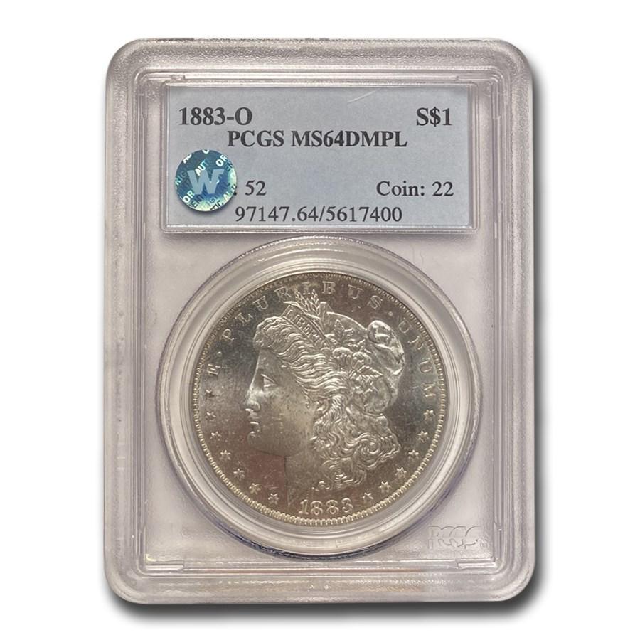1883-O Morgan Dollar MS-64 DMPL PCGS