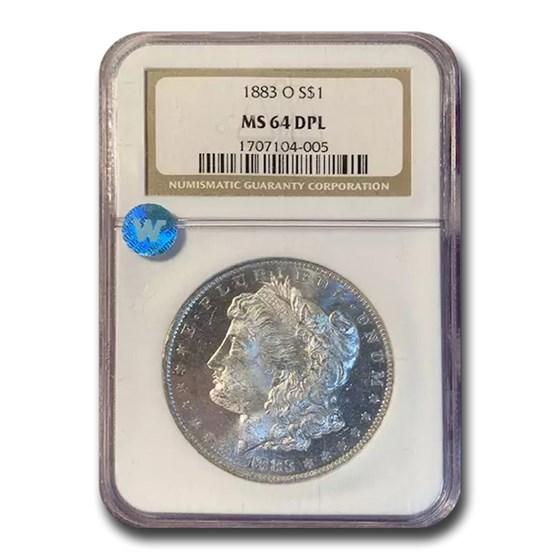 1883-O Morgan Dollar MS-64 DPL NGC