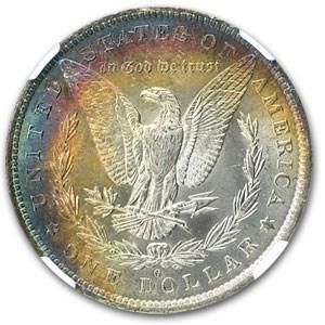1883-O Morgan Dollar MS-64 NGC (Gorgeous Rev Toning)