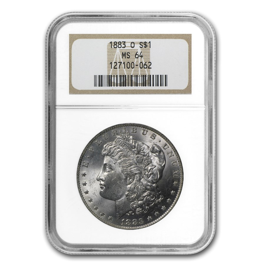 1883-O Morgan Dollar MS-64 NGC