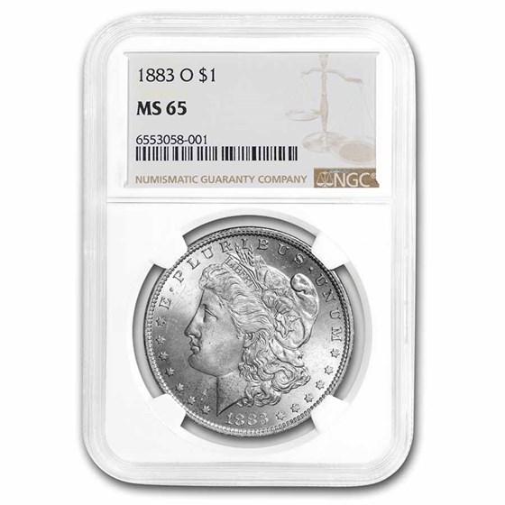 1883-O Morgan Dollar MS-65 NGC