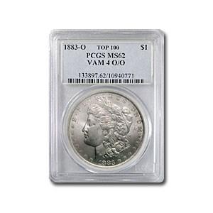 1883-O/O Morgan Dollar MS-62 PCGS (VAM-4, TOP-100)