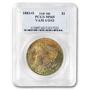 1883-O/O Morgan Dollar MS-65 PCGS (VAM-4, Toned, Top-100)