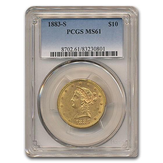 1883-S $10 Liberty Gold Eagle MS-61 PCGS