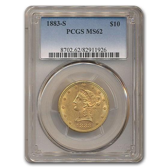 1883-S $10 Liberty Gold Eagle MS-62 PCGS