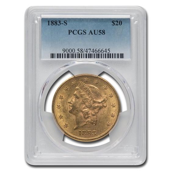 1883-S $20 Liberty Gold Double Eagle AU-58 PCGS