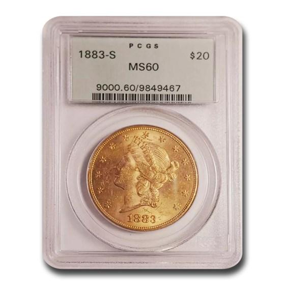 1883-S $20 Liberty Gold Double Eagle MS-60 PCGS