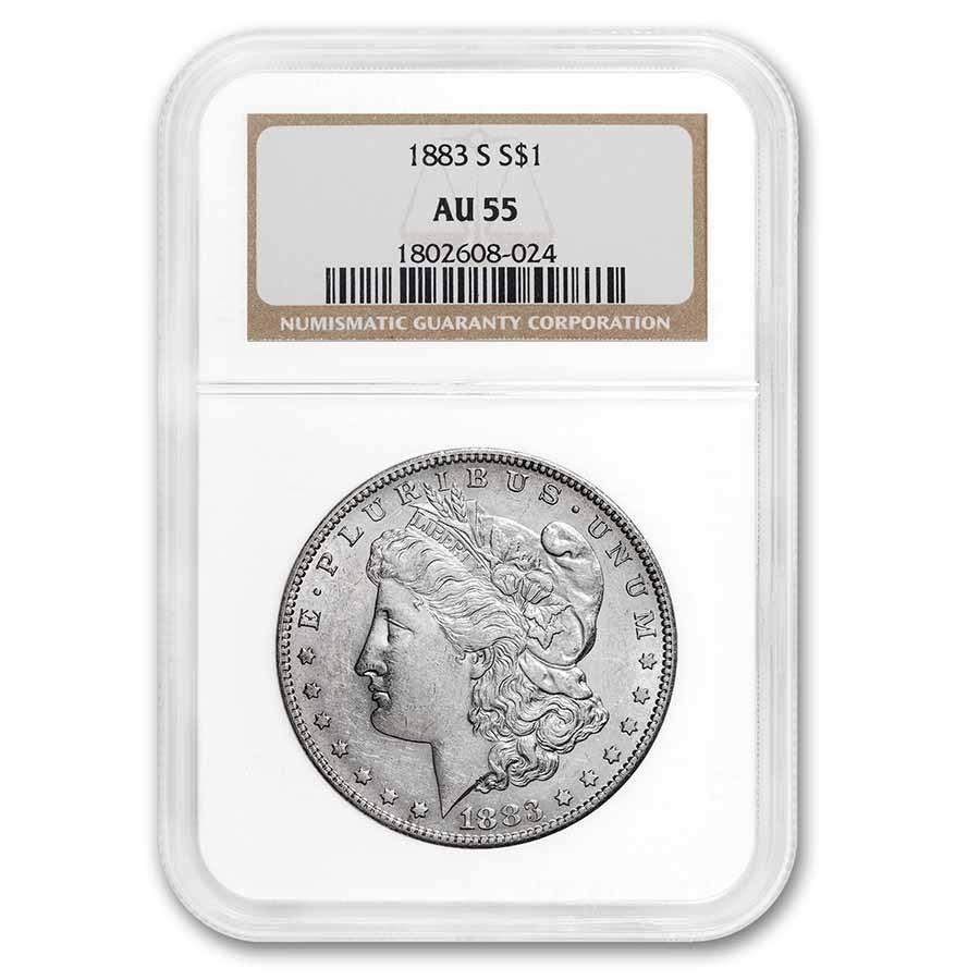 1883-S Morgan Dollar AU-55 NGC