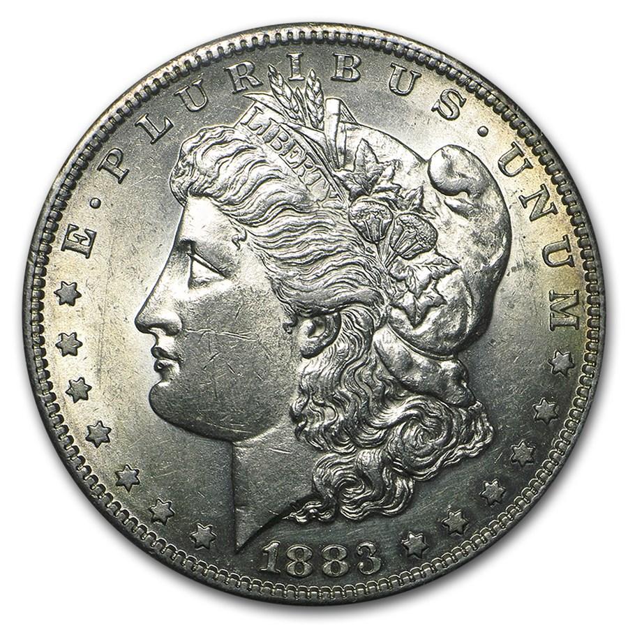 1883-S Morgan Dollar AU-58
