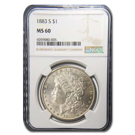 1883-S Morgan Dollar MS-60 NGC