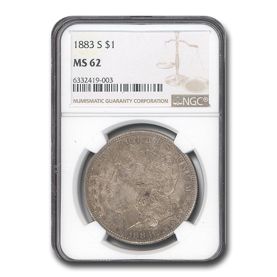 1883-S Morgan Dollar MS-62 NGC