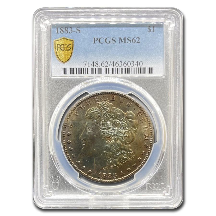 1883-S Morgan Dollar MS-62 PCGS