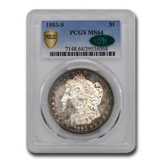 1883-S Morgan Dollar MS-64 PCGS CAC