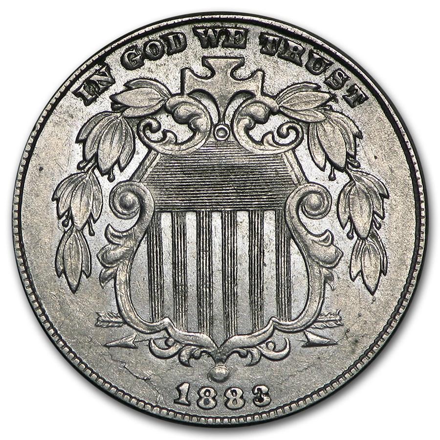 1883 Shield Nickel AU