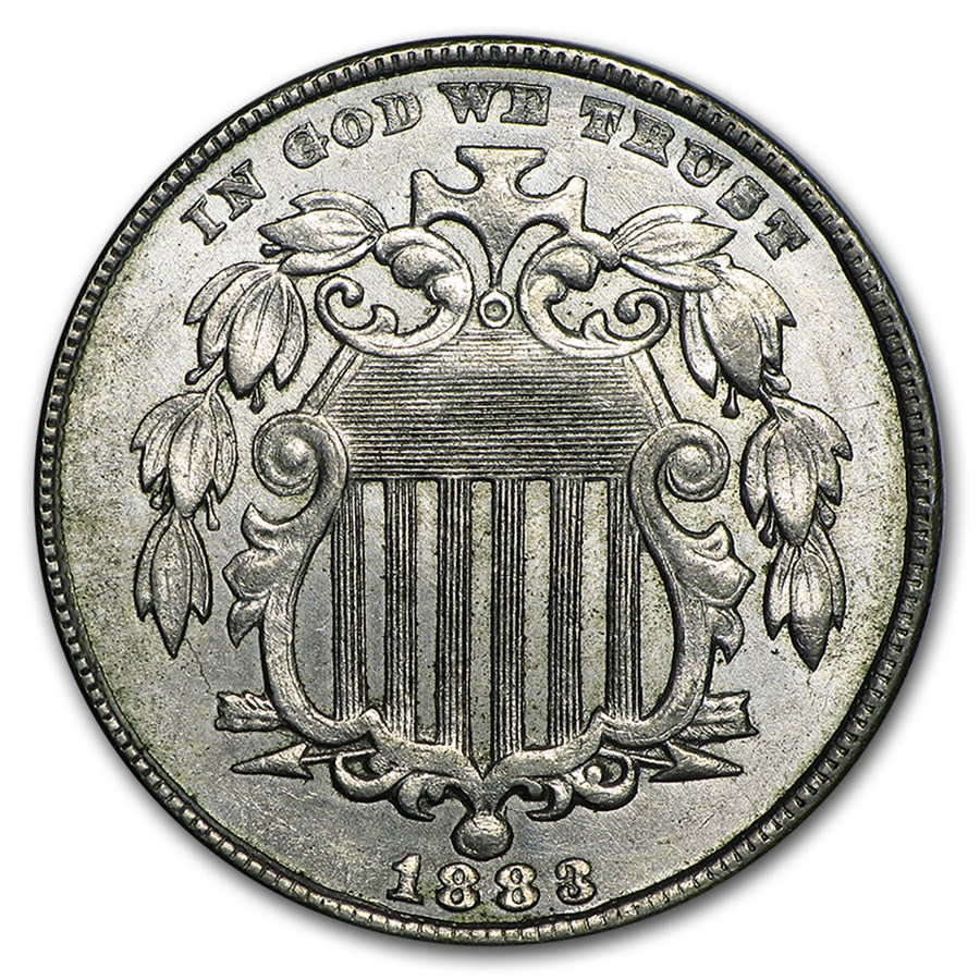 1883 Shield Nickel BU