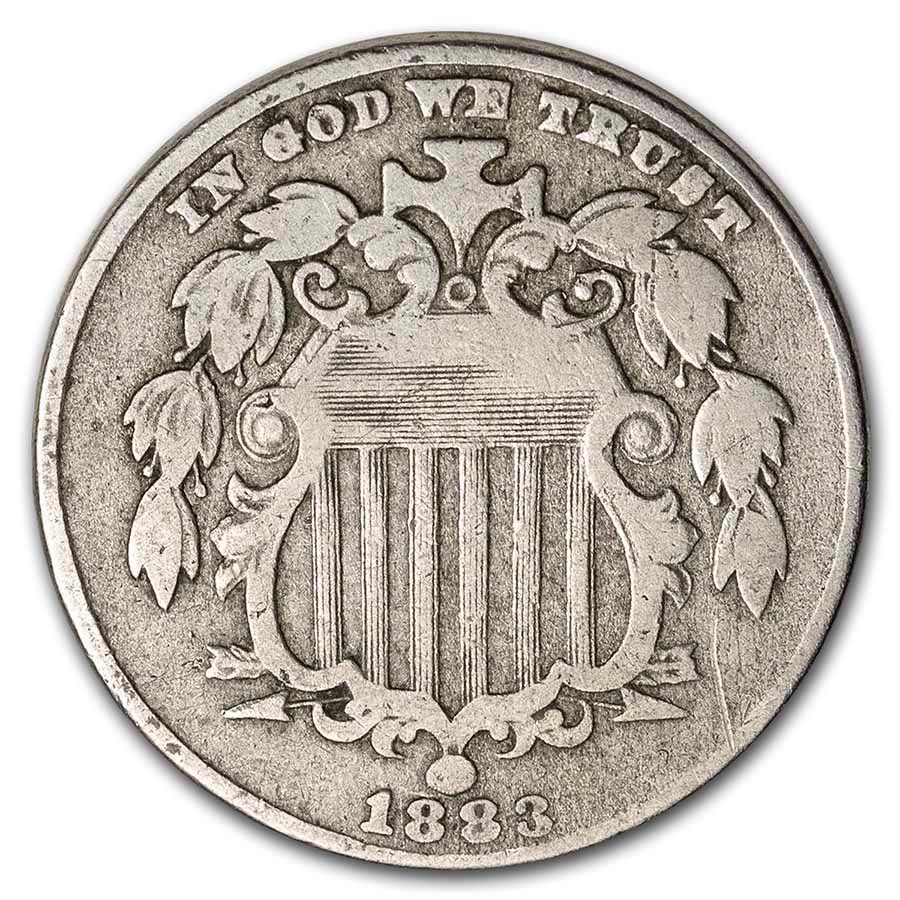 1883 Shield Nickel Fine