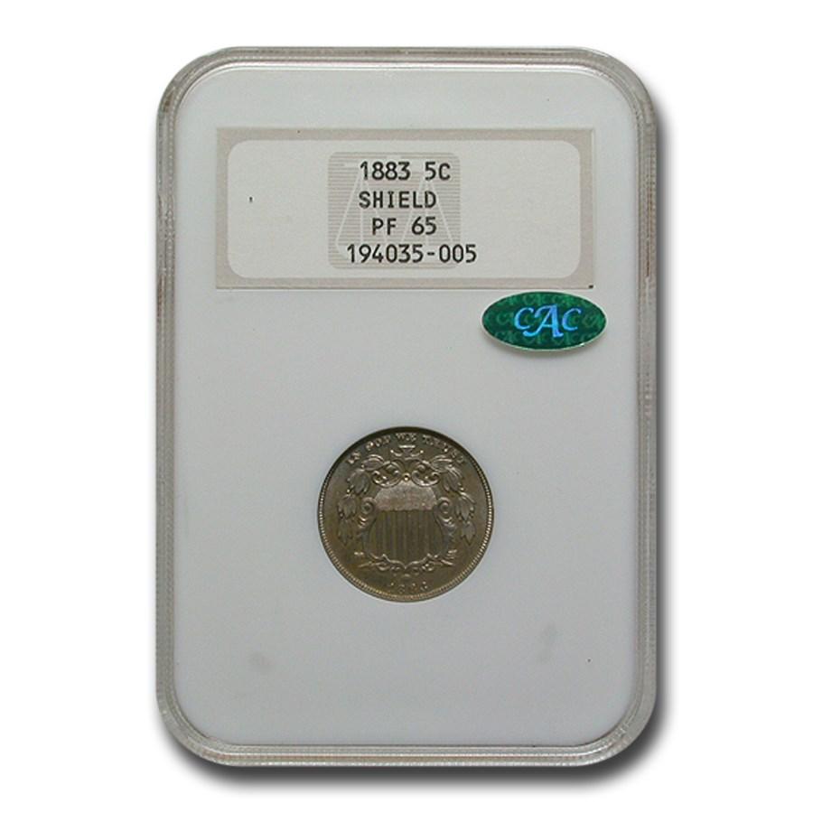 1883 Shield Nickel PF-65 NGC CAC