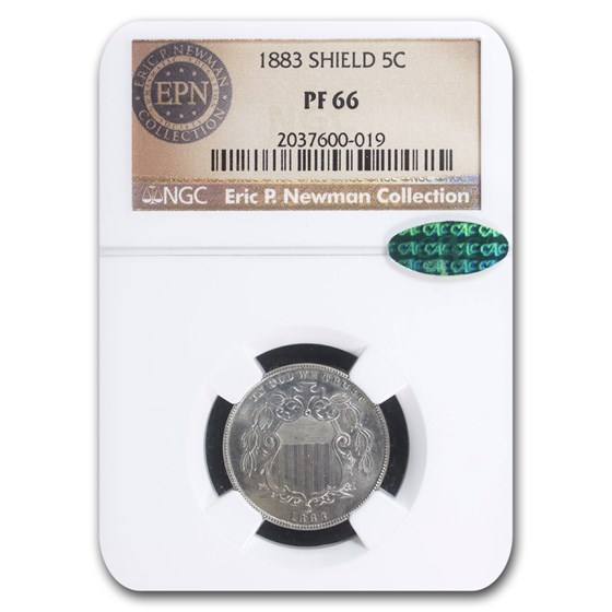 1883 Shield Nickel PF-66 NGC CAC