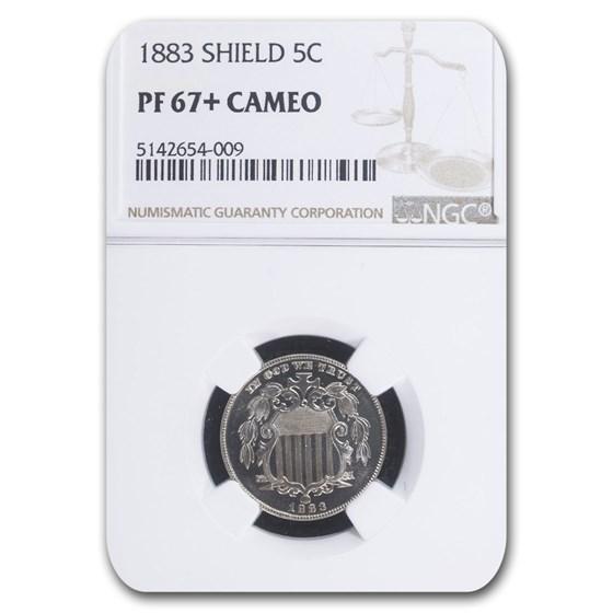 1883 Shield Nickel PF-67+ Cameo NGC