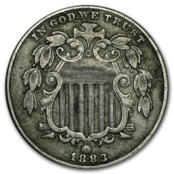 1883 Shield Nickel VF