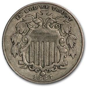 1883 Shield Nickel XF
