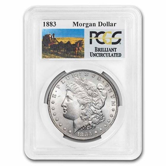 1883 Stage Coach Morgan Dollar BU PCGS