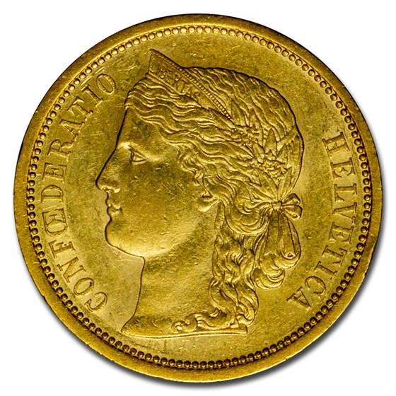 1883 Switzerland Gold 20 Francs BU
