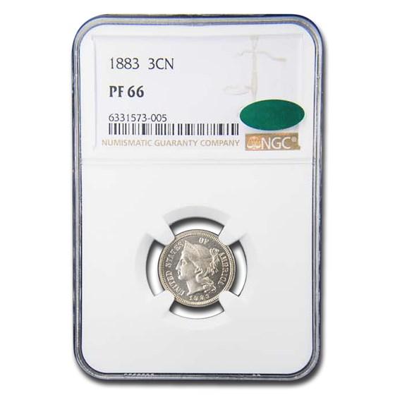 1883 Three Cent Nickel PF-66 NGC CAC