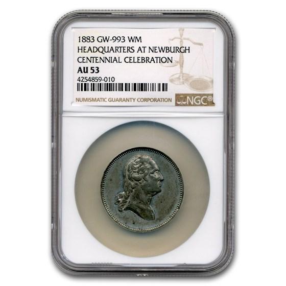 1883 Washington Medal AU-53 NGC (White Metal)